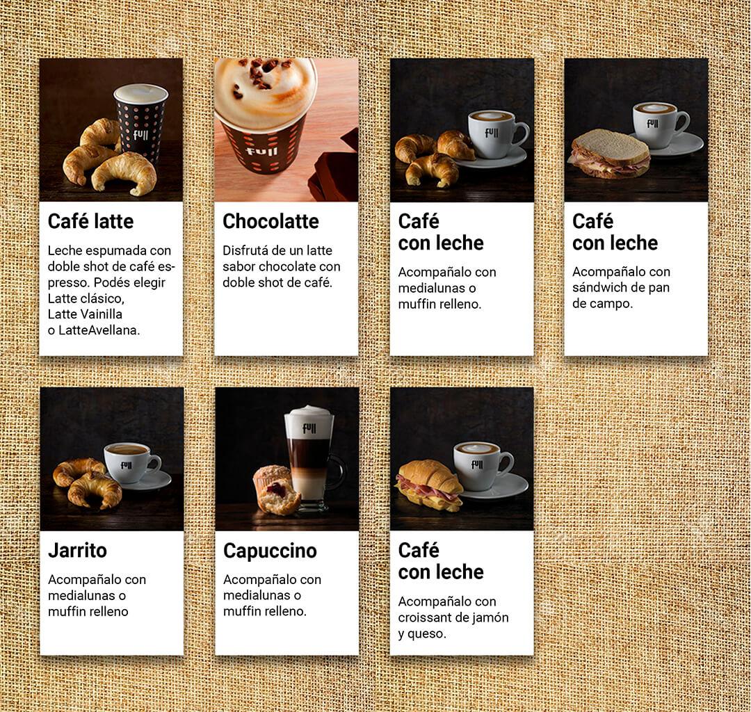 Menú cafetería